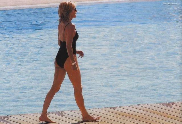 actress Claire Chazal 2015 in one's birthday suit photo beach