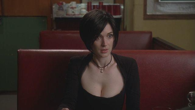actress Winona Ryder 19 years mammilla foto in public