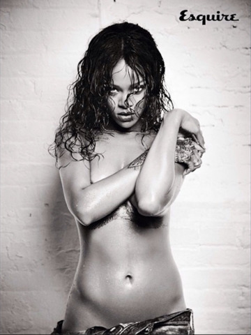 models Rihanna young sensual picture home