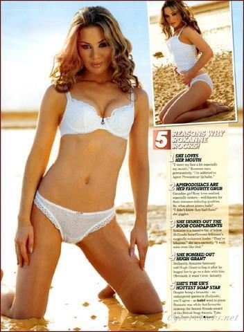 celebritie Roxanne McKee 22 years ass photo beach