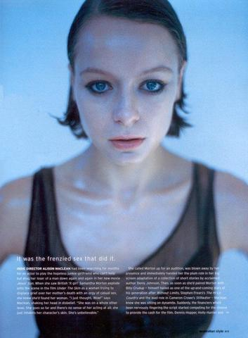 models Samantha Morton 20 years in one's skin picture in public