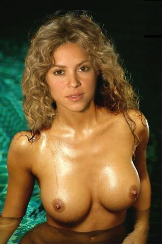 actress Shakira 23 years nude art image in the club