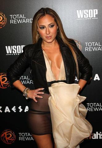 celebritie Adrienne Bailon 24 years romantic foto in public