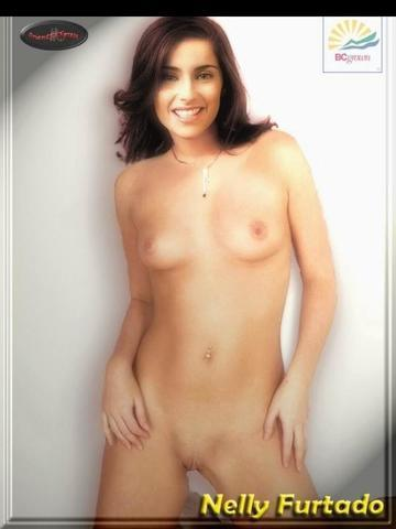actress Nelly Furtado young unclad photo home