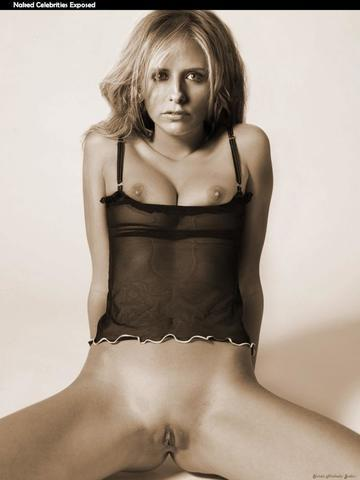 celebritie Sarah Michelle Gellar 23 years pussy photo beach