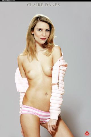 actress Claire Danes 19 years unclothed photo beach
