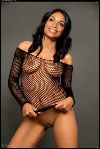 Naked Rosario Dawson photoshoot