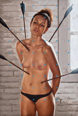Naked Julie Stichbury art